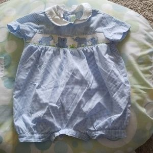 Smocked Elephant Outfit